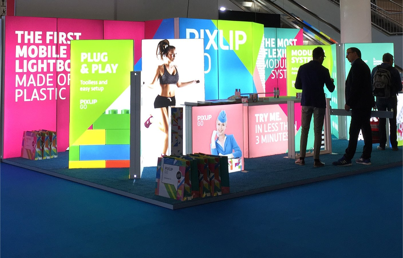 Pixlip Messestand